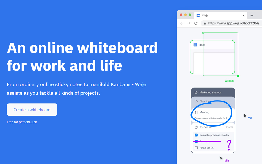 Weje - Online Whiteboard Collaboration