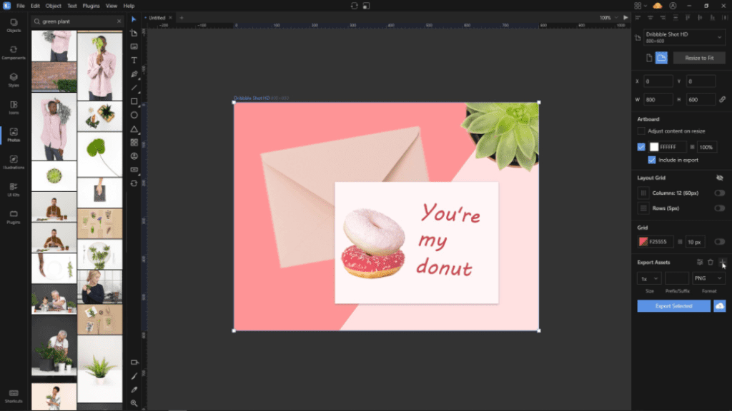 How To Create A Valentine Card In Lunacy