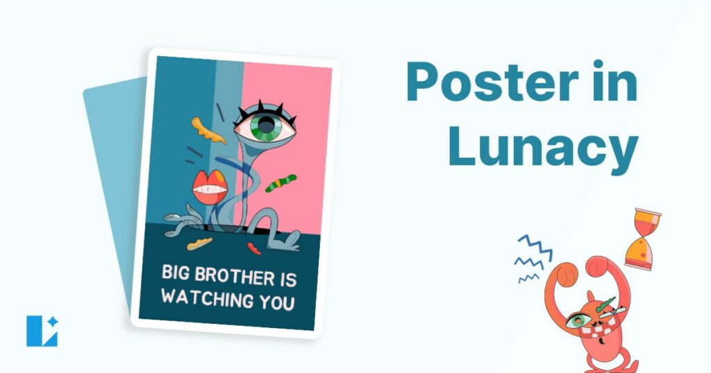 How to create a poster using illustrations in Lunacy
