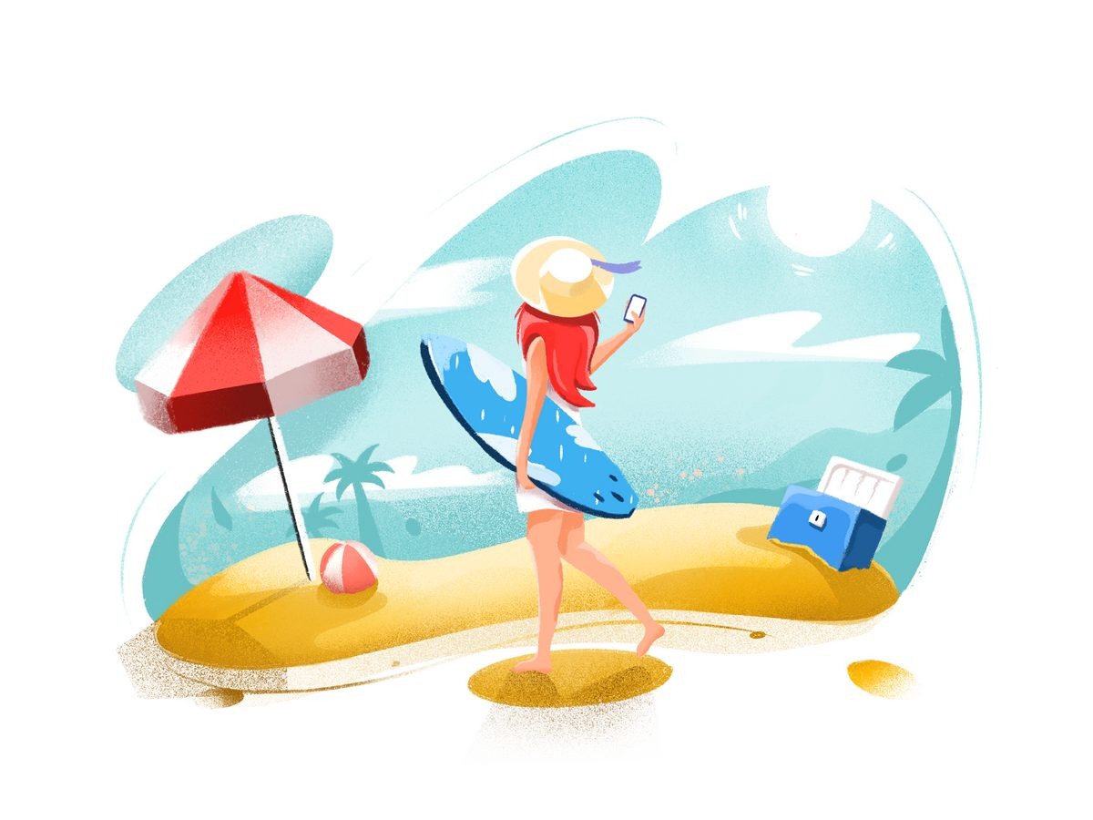 Sunkissed: a collection of refreshing summer illustrations:Beach by Rytis Jonikas