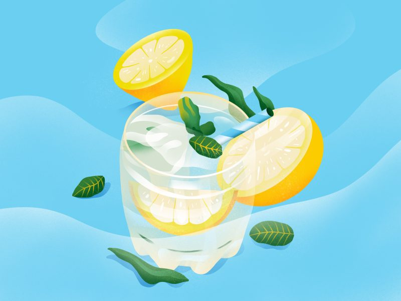 Sunkissed: a collection of refreshing summer illustrations:Lemonade by Berin Holy