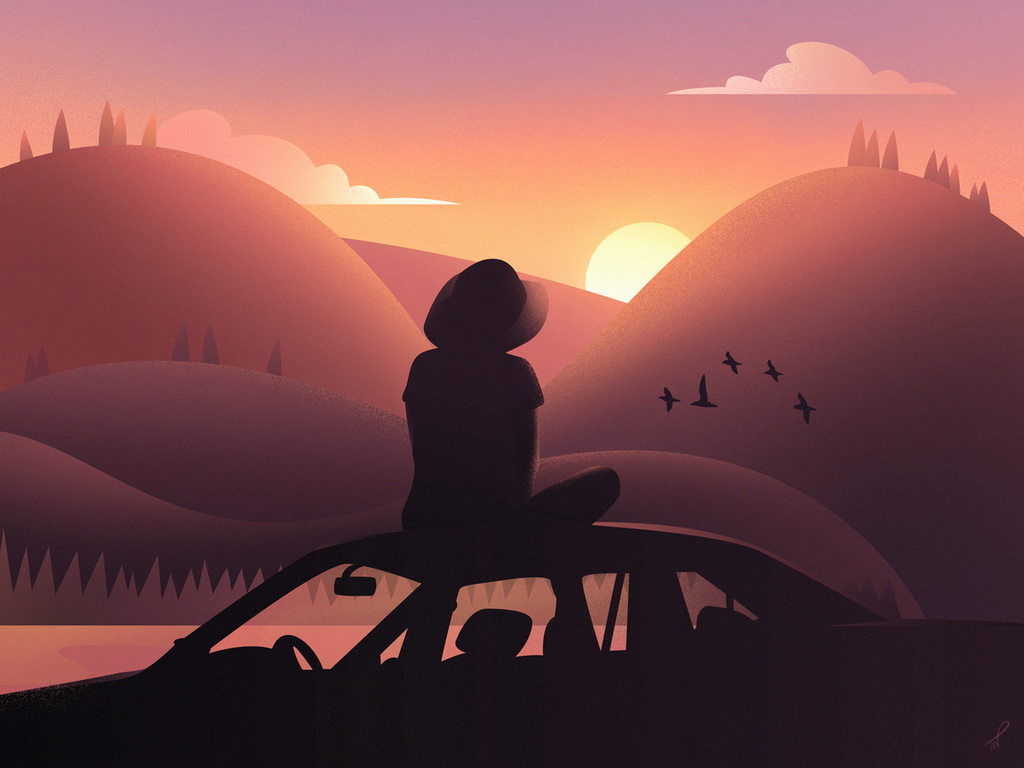 Sunkissed: a collection of refreshing summer illustrations:Nothing else needed by Patrik Wodjciechowicz