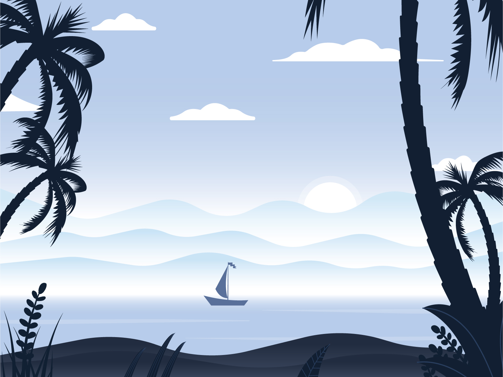 Sunkissed: a collection of refreshing summer illustrations:Sunrise Beach by Roman