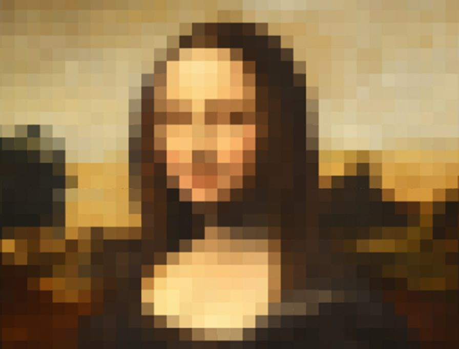 How To Enlarge an Image Without Losing Quality: Mona Lisa in pixels