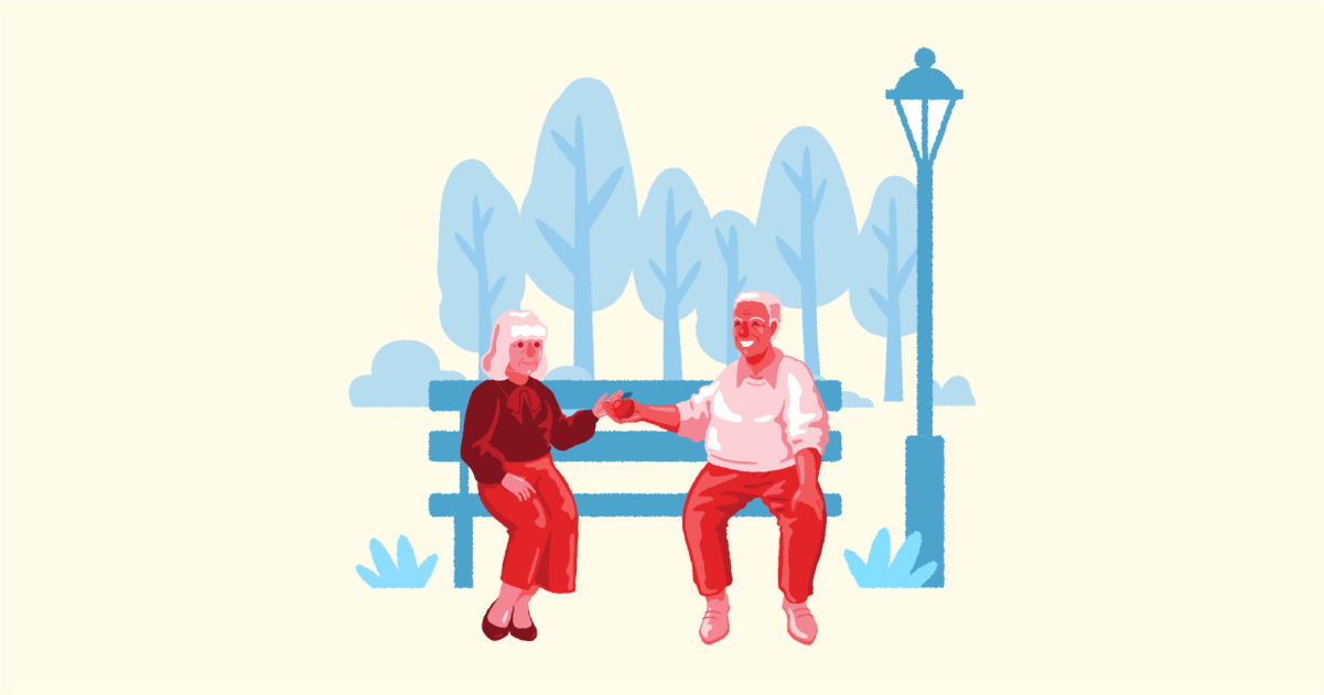 Happily Ever After: a collection of illustrations, icons and photos for Parents' Day: Grandparents in Cherry style