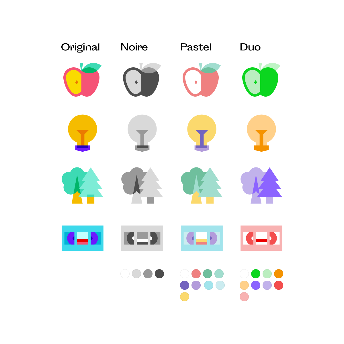 Color Glass Icons: 1,800+ geometric icons that look like gems