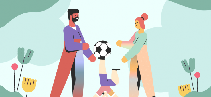 Happily Ever After: a collection of illustrations, icons and photos for Parents' Day