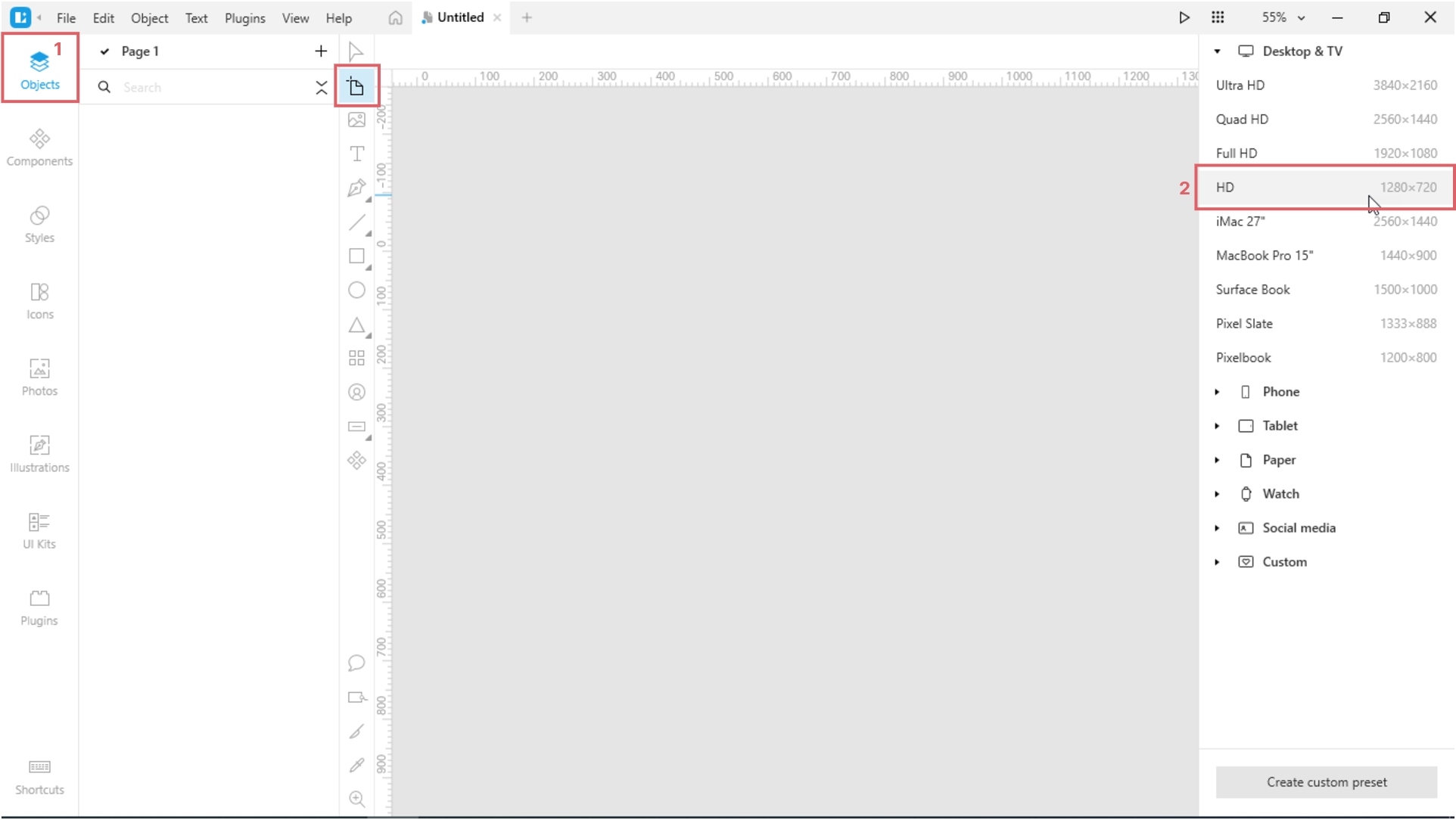 How to Create a Paper Cut-Out Effect in Lunacy; Adjust the zoom so that the artboard fits the canvas.