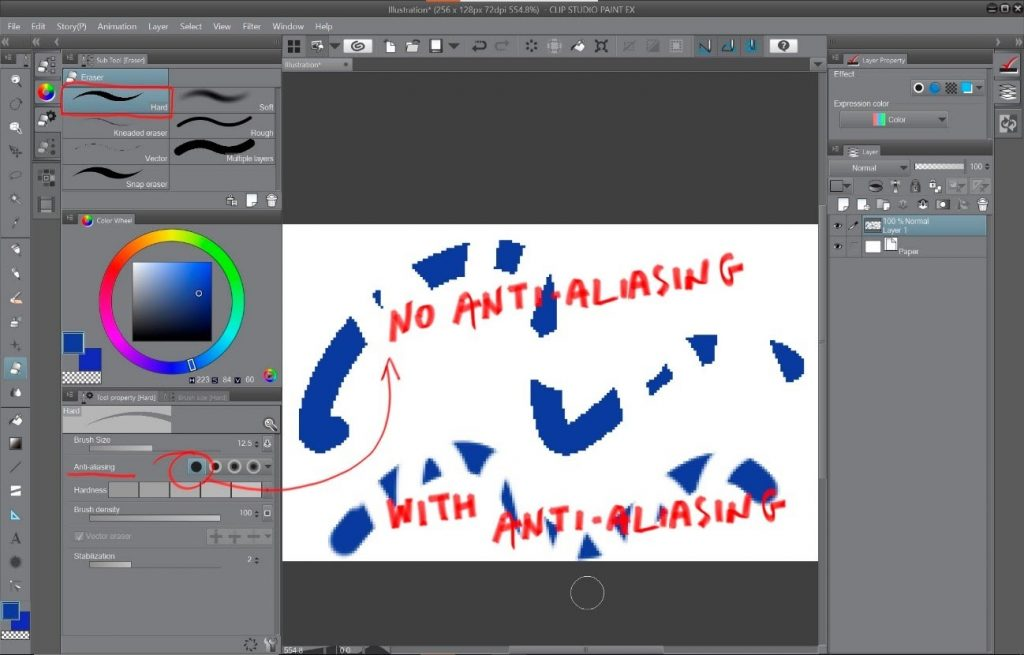 How to create a beautiful Pixel Art environment in Clip Studio Paint: Set up the eraser