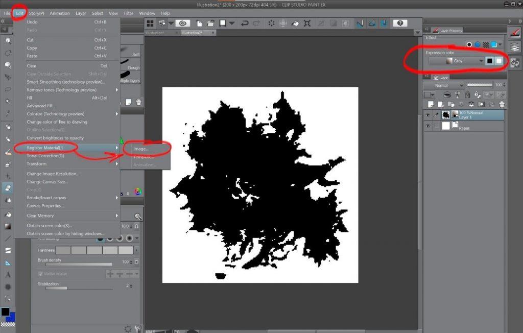 How to create a beautiful Pixel Art environment in Clip Studio Paint: Custom organic textured brush