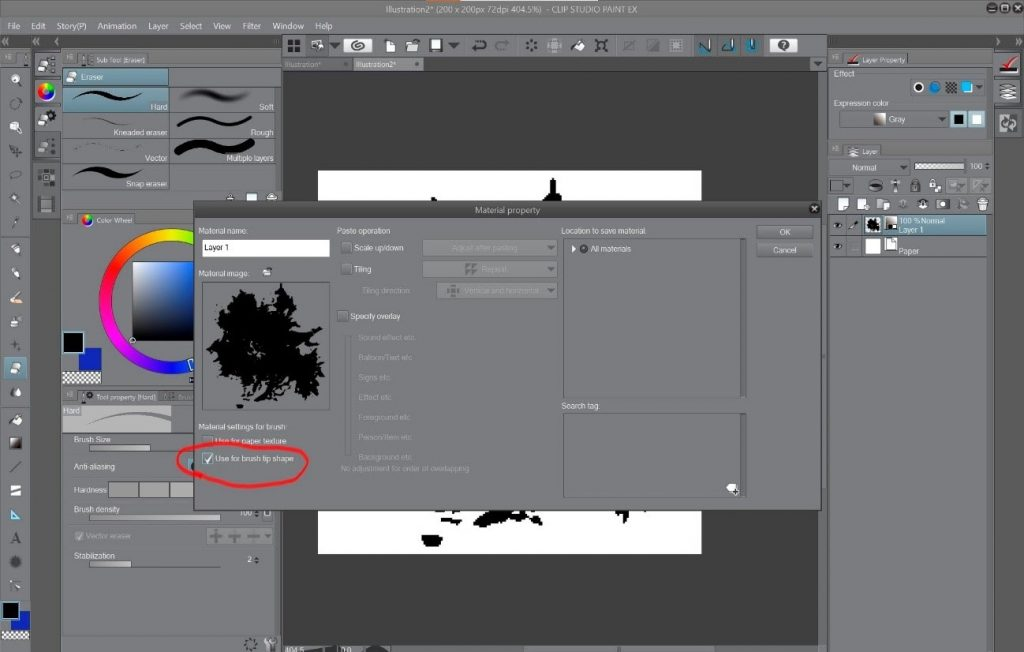 How to create a beautiful Pixel Art environment in Clip Studio Paint: Material Properties