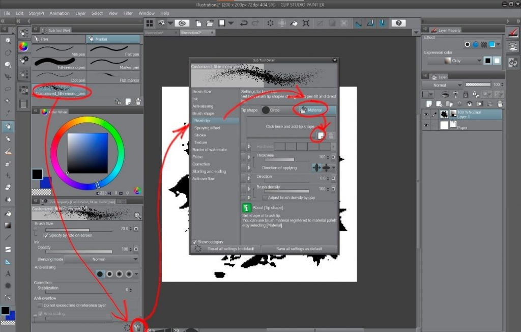 How to create a beautiful Pixel Art environment in Clip Studio Paint: Brush Tip