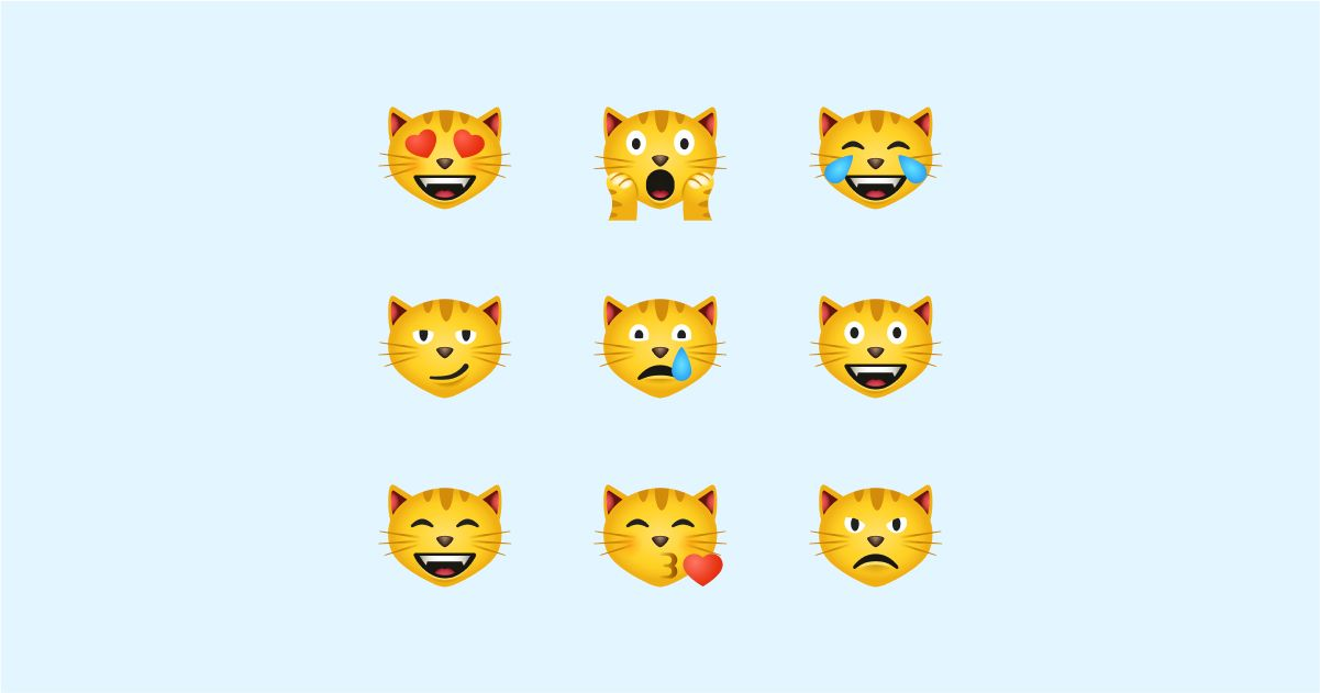 Catgratulations: special collection of frisky graphics for International Cat Day: Emoji cats