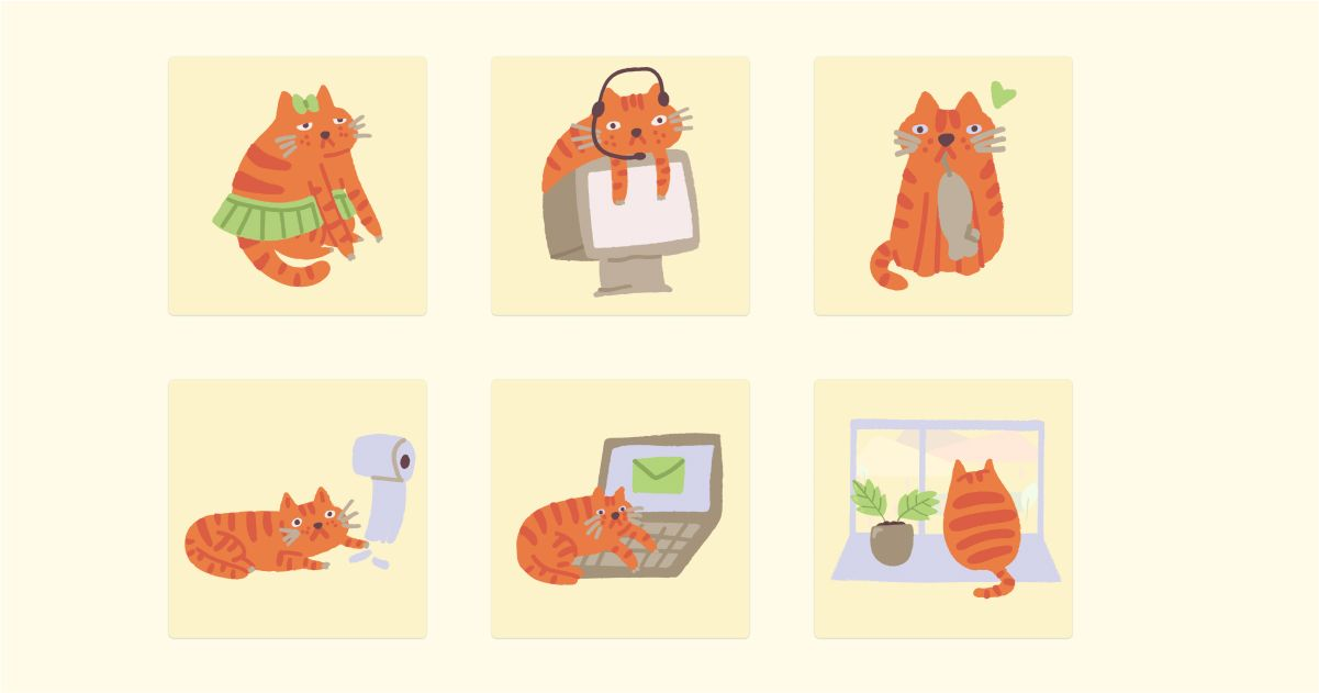 Catgratulations: special collection of frisky graphics for International Cat Day: Ginger Cat