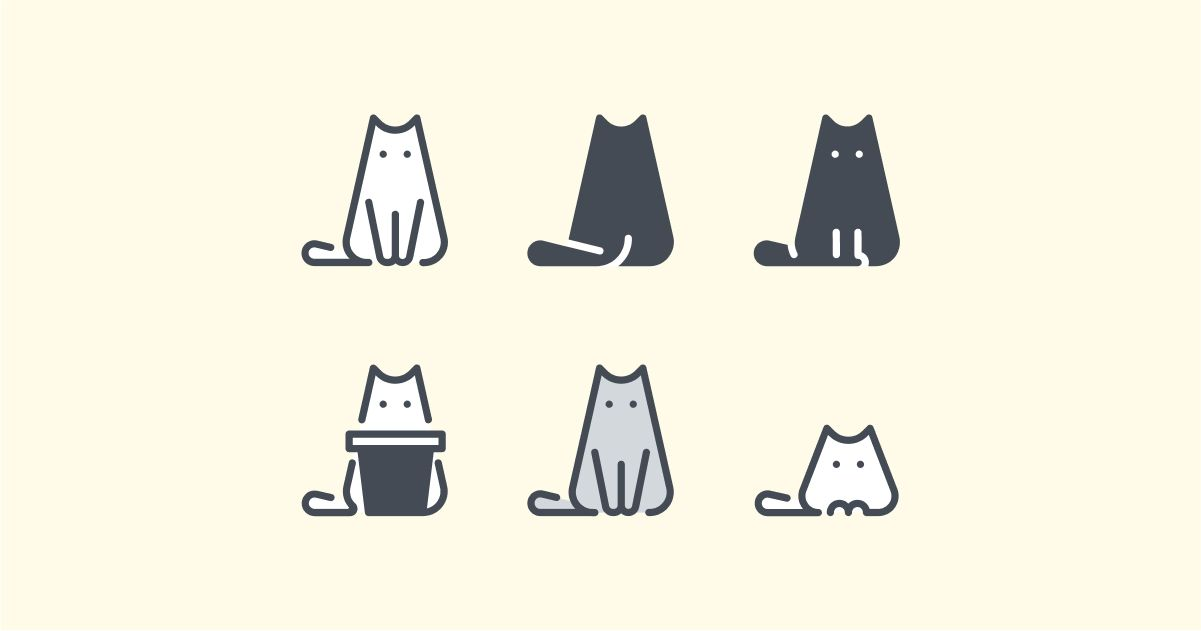 Catgratulations: special collection of frisky graphics for International Cat Day: Pastel style cats