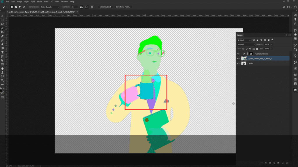 How to recolor 3D illustrations by Icons8 in Photoshop:: recolor mug