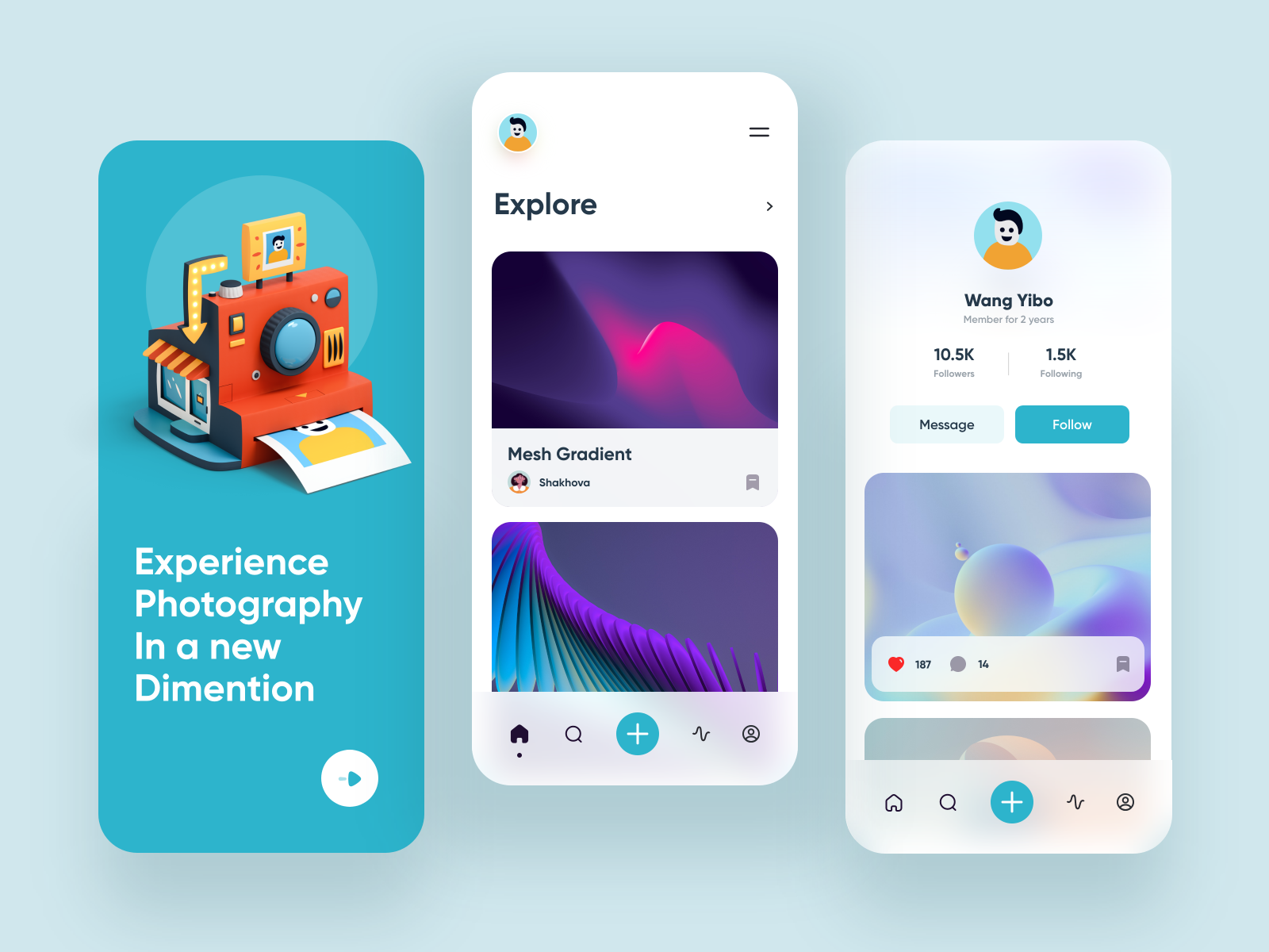 Design inspiration: web and mobile interfaces with Icons8 graphic elements: interfaces by Yasir Ahmad Noori