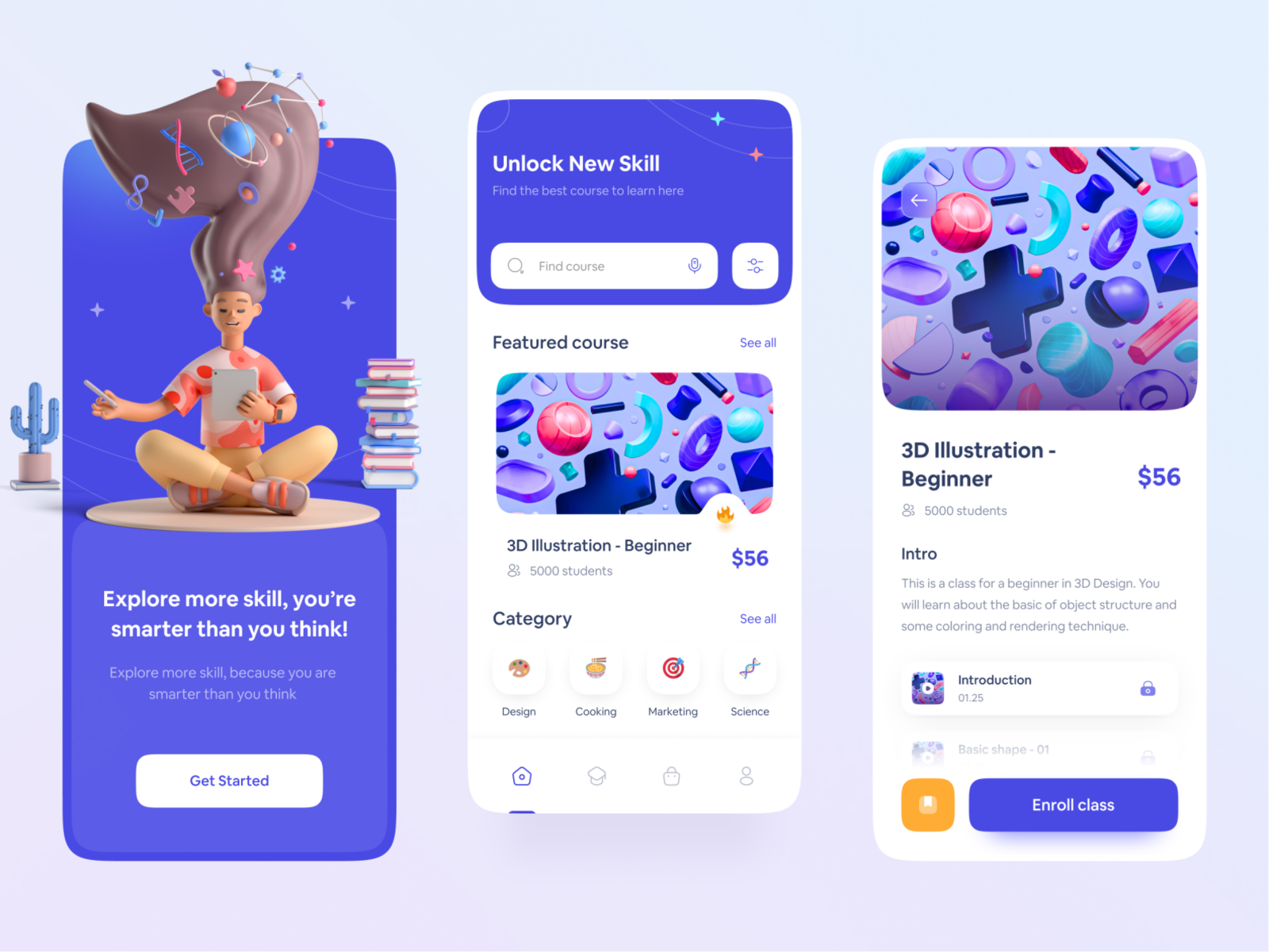 Design inspiration: web and mobile interfaces with Icons8 graphic elements: interfaces by Maulana Farhan for Enver Studio