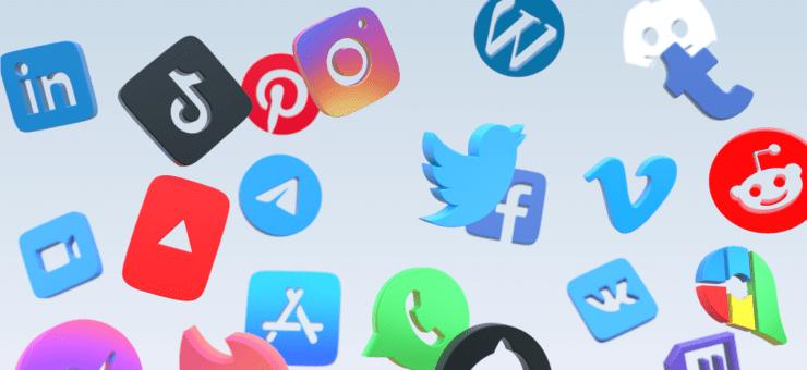 Free social media logos for SF Symbols