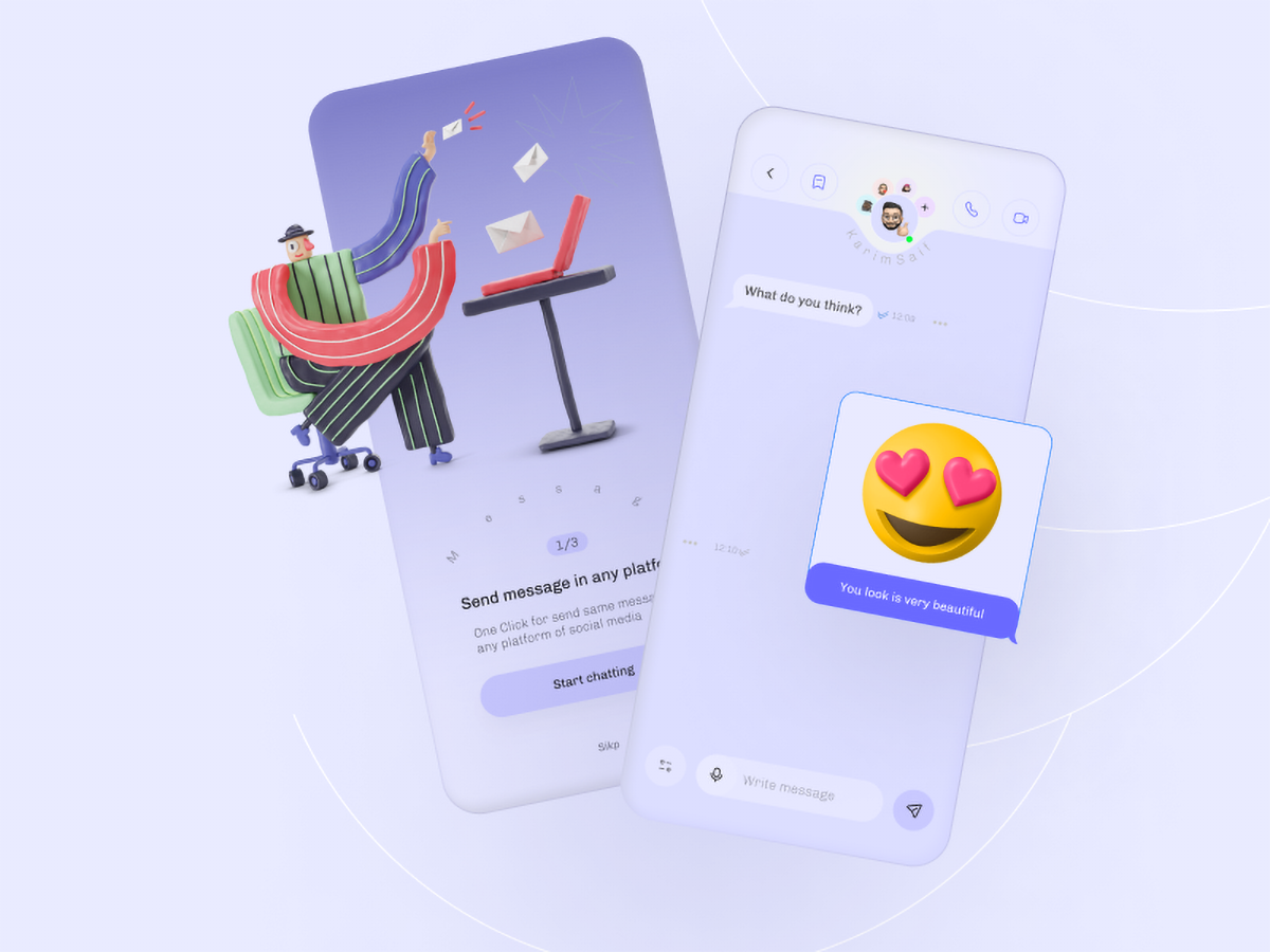 Design inspiration: web and mobile interfaces with Icons8 graphic elements: interfaces by : karim saif